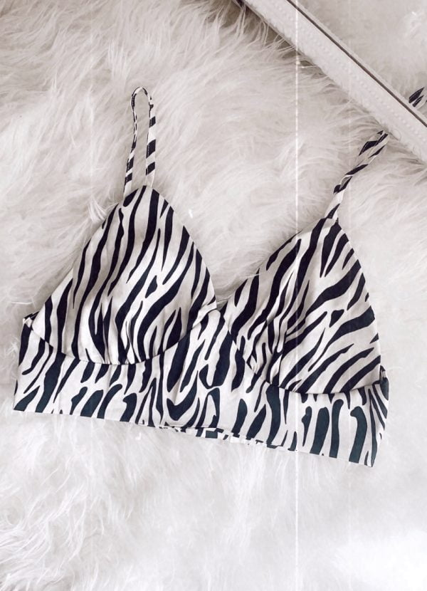 Zebra crop top OUTLET